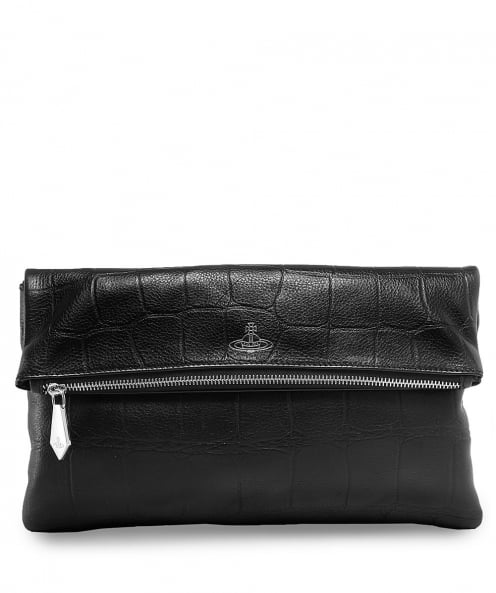 Vivienne Westwood Accessories Saffiano Leather Canterbury Fold Clutch