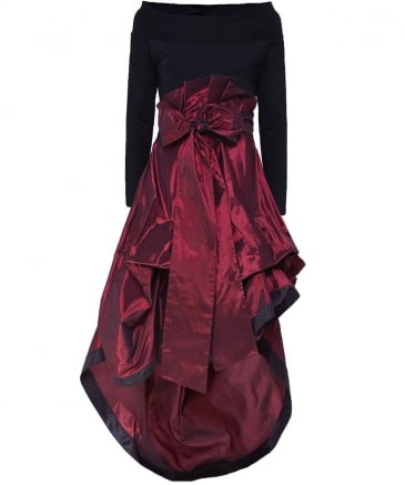 Asymmetric Taffeta Geram Dress