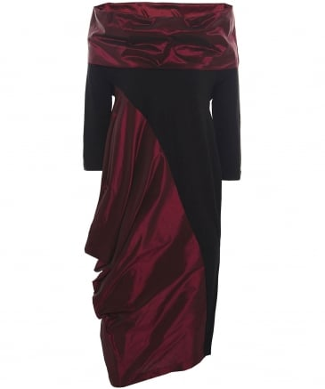 Asymmetric Taffeta Rudak Dress