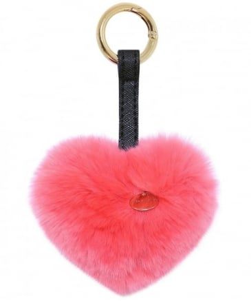 Fur Heart Keyring
