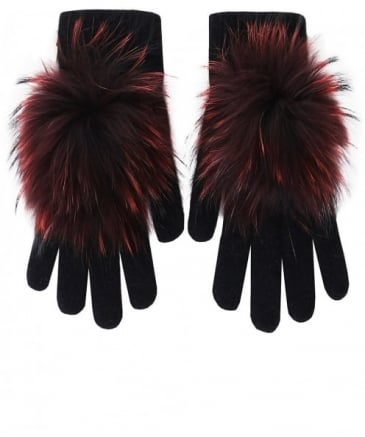 Knitted Fur Gloves