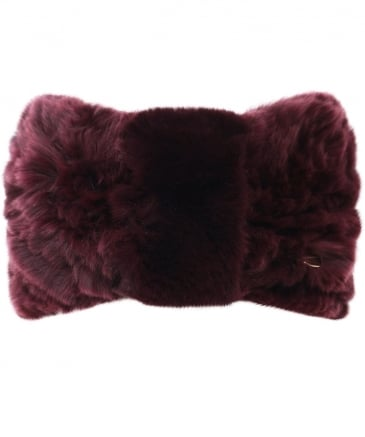 Knitted Fur Headband