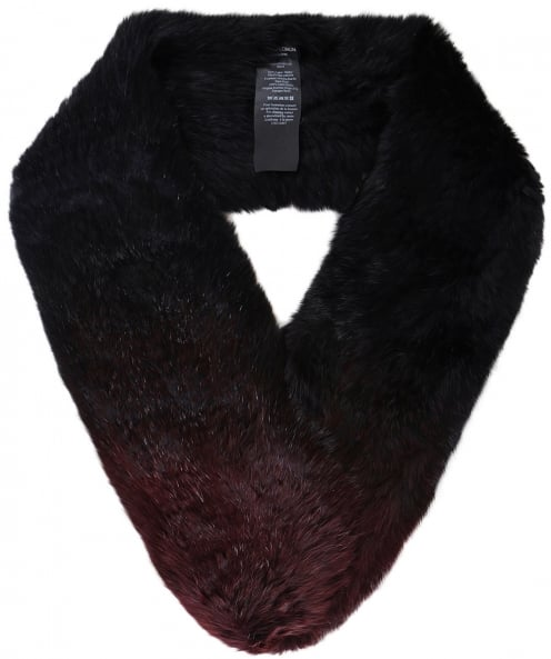 Yves Salomon Ombre Knitted Fur Loop Scarf