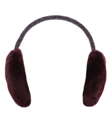 Wool Strap Fur Ear Muffs