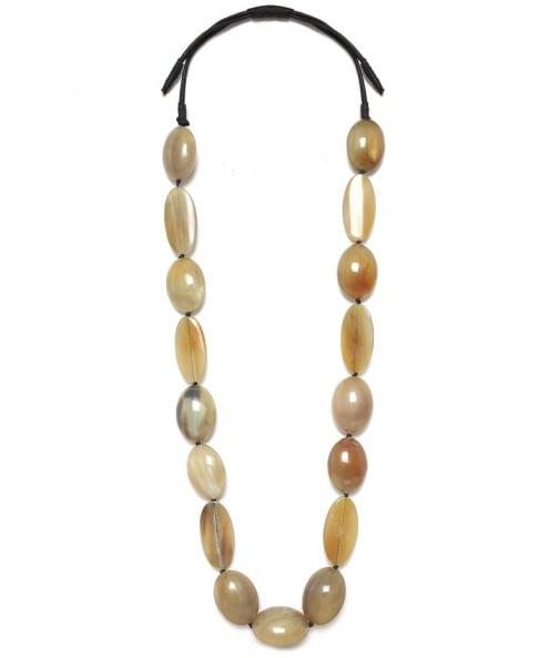 Chunky Oval Bead Necklace