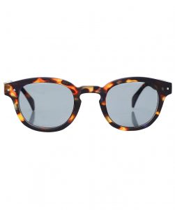 This is an image of some round tortoiseshell sunglasses
