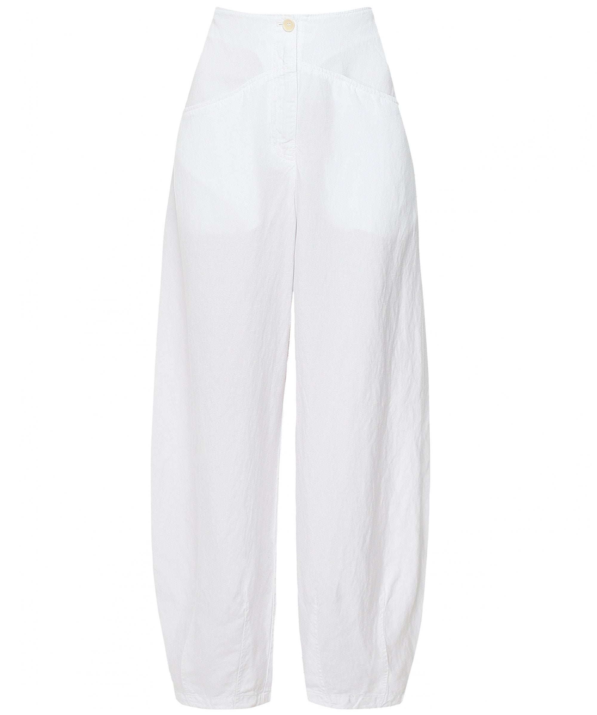 This is an image of some women's white trousers