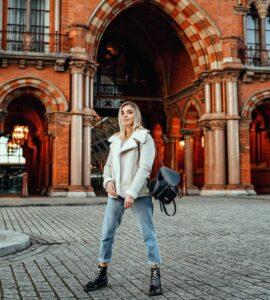 woman posing in London